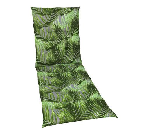 LIEGENAUFLAGE Blätter  - Grau/Grün, Design, Textil (58/190/5cm)