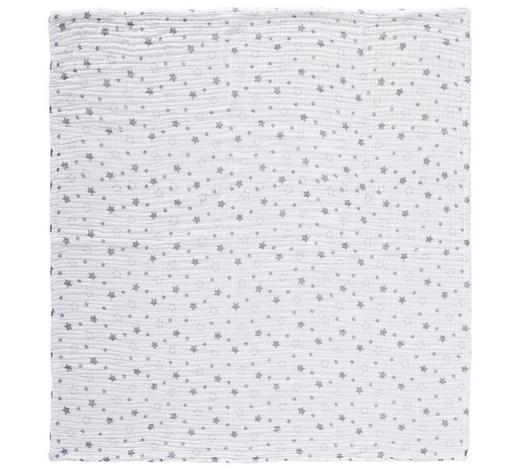 SCHMUSEDECKE 95/95 cm - Weiß/Grau, Basics, Textil (95/95cm) - My Baby Lou