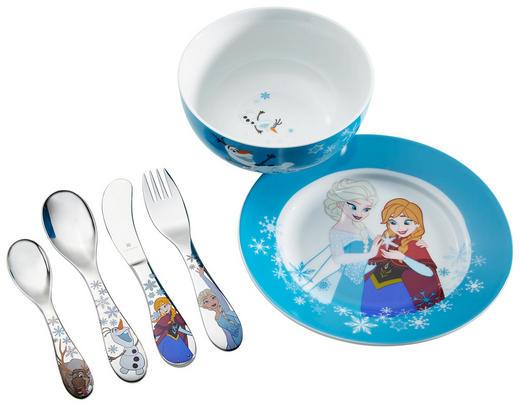 KINDERGESCHIRRSET Porzellan 6-teilig - Blau/Weiß, Basics, Keramik/Metall - WMF