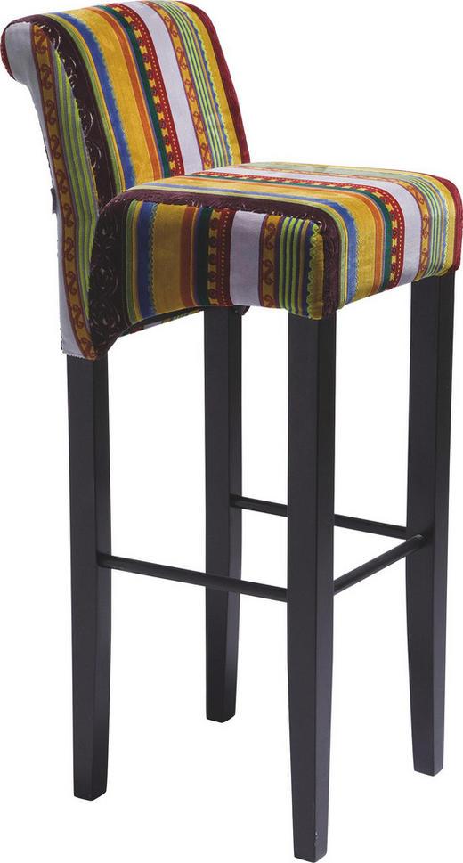 BARHOCKER Dunkelbraun, Multicolor - Dunkelbraun/Multicolor, Design, Holz/Textil (37/102/44cm) - Kare-Design