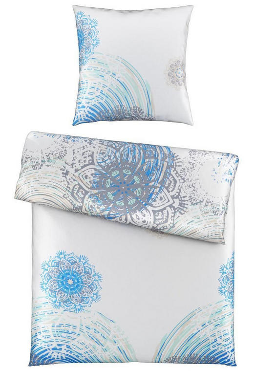 BETTWÄSCHE Satin Blau, Weiß 135/200 cm - Blau/Weiß, Trend, Textil (135/200cm) - Esposa