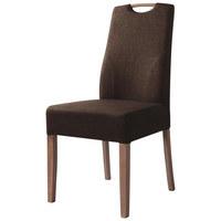 STUHL Flachgewebe Fango - Fango/Eichefarben, Design, Holz/Textil (45,5/96,5/60cm) - SET ONE BY MUSTERRIN