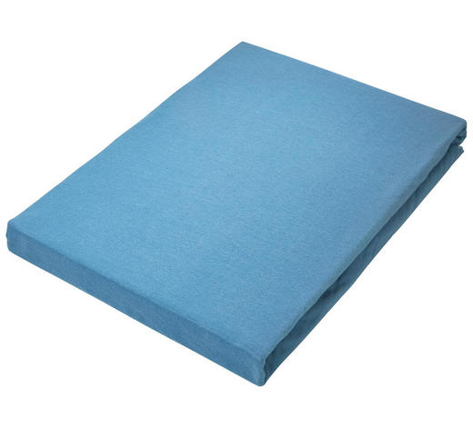 SPANNBETTTUCH Jersey Blau bügelfrei  - Blau, Basics, Textil (100/200cm) - Novel