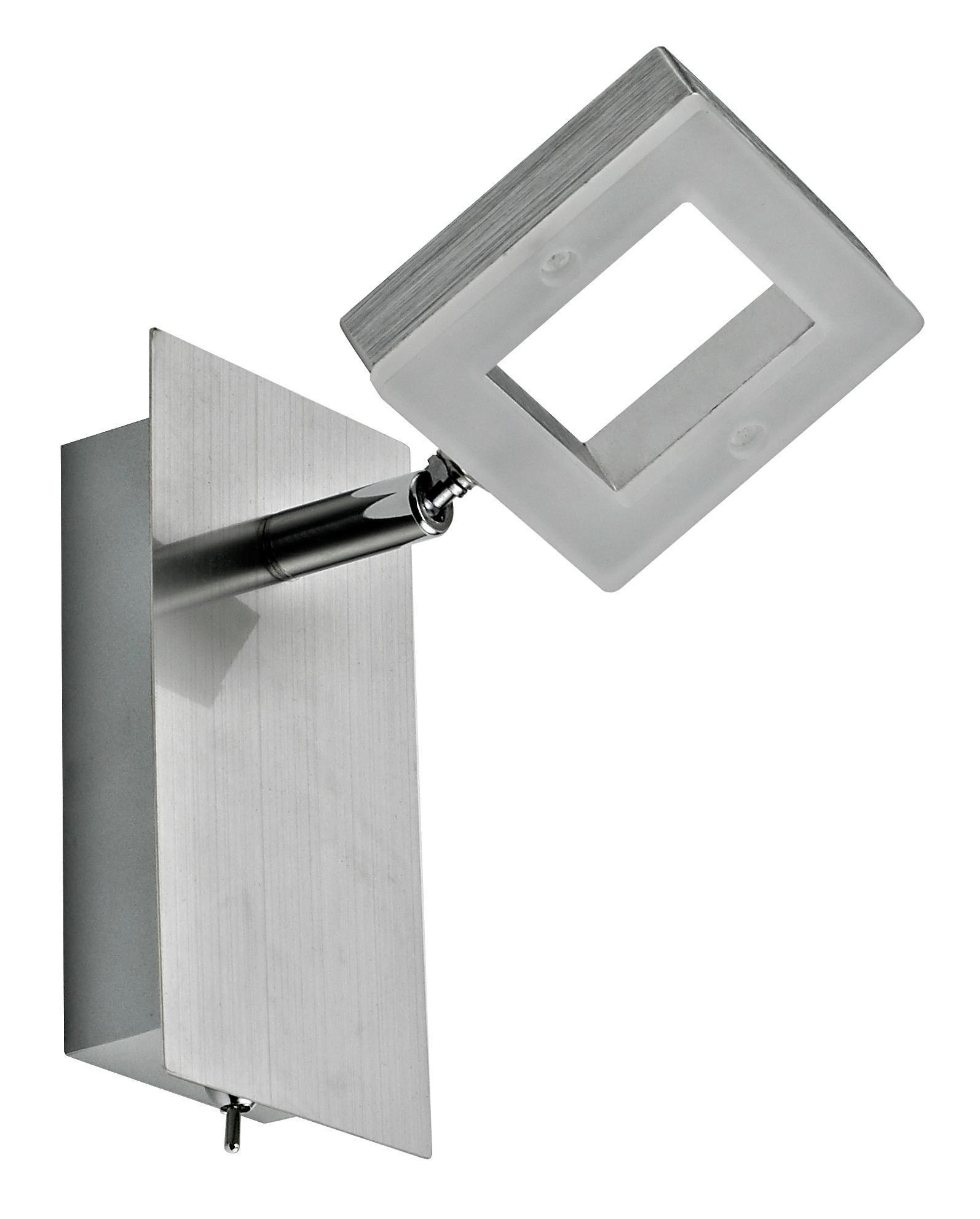 LED SVÍTIDLO - barvy hliníku/barvy niklu, Design, kov/umělá hmota (14/8/15,5cm) - NOVEL
