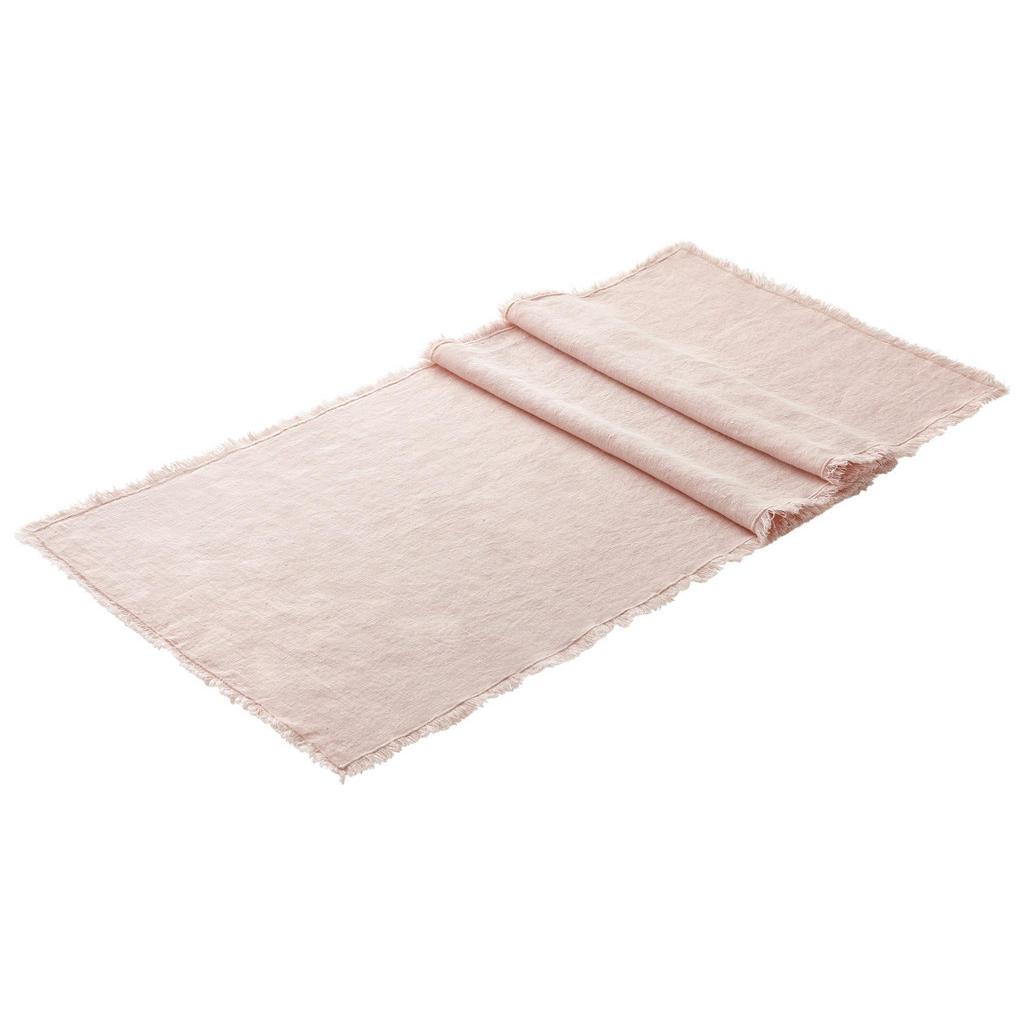 Esposa Leinen tischläufer textil rosa 40/140 cm