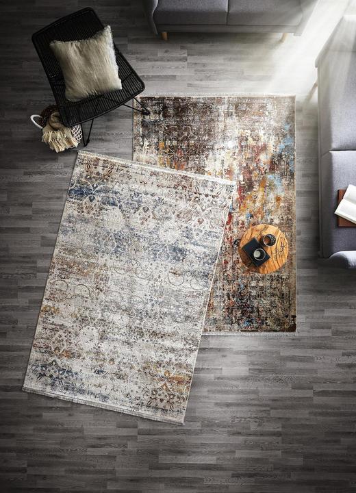 VINTAGE-TEPPICH - Multicolor/Grau, LIFESTYLE, Textil (133/185cm) - Esposa