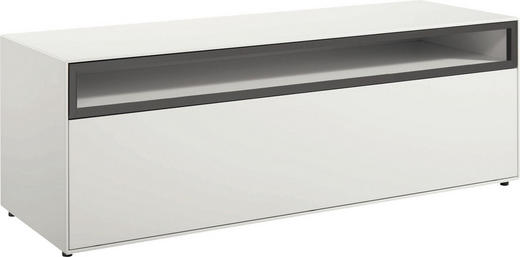 LOWBOARD lackiert Hellgrau, Weiß - Hellgrau/Schwarz, Design (128/44,8/44,8cm) - Now by Hülsta