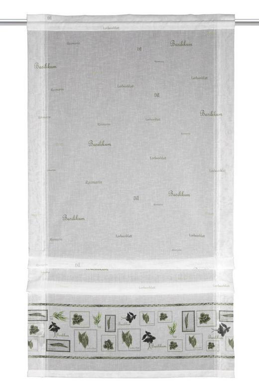 FERTIGVORHANG  halbtransparent - Weiß/Grün, Textil (60/120cm)