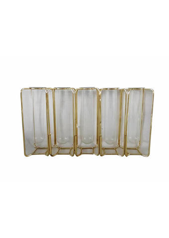 VAZA - boje zlata/prozirno, Trend, staklo/metal (30,5/6/17cm) - Ambia Home