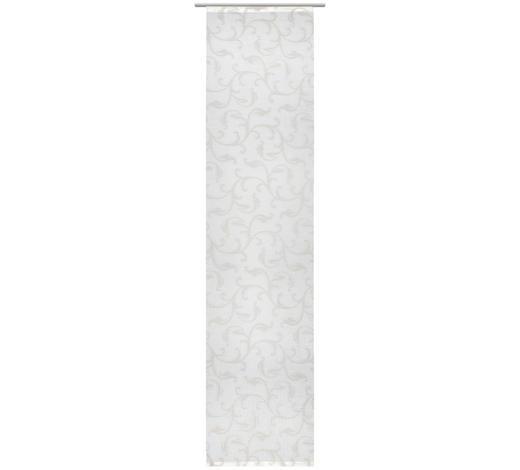 ZÁVĚS PLOŠNÝ, 60/255 cm - šedá/bílá, Design, textil (60/255cm) - Novel