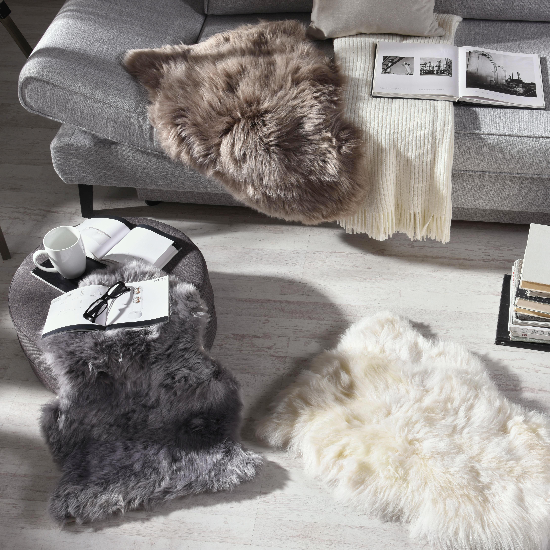 SCHAFFELL  Grau  65/45 cm - Grau, Basics, Textil (65/45cm) - LINEA NATURA