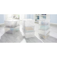 BOX MIT DECKEL 42/35/17 cm - Transparent, Basics, Kunststoff (42/35/17cm) - Rotho