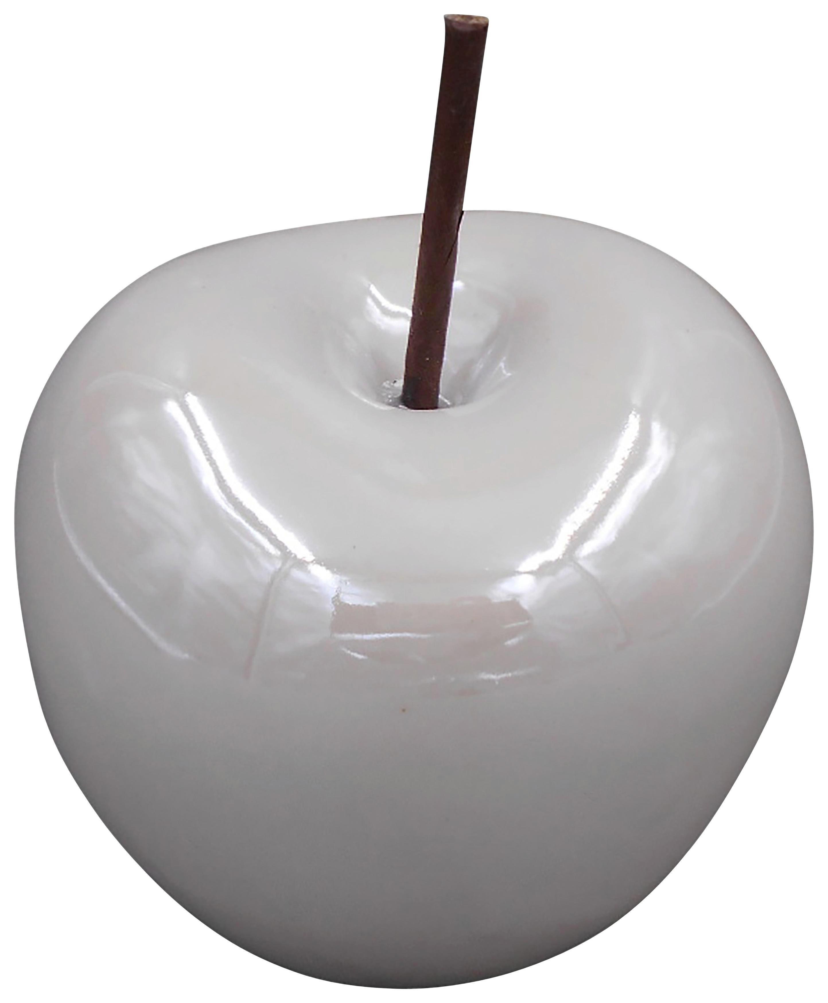 DEKORATIONSÄPPLE - pärlemor, Basics, keramik (7,7/7,7cm) - Ambia Home