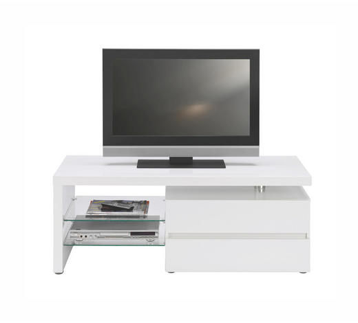 TV ELEMENT bijela   - bijela/boje aluminija, Design, staklo/drvni materijal (124,50cm) - Xora