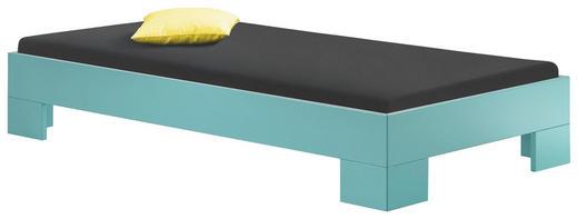 BETT 100/200 cm - Türkis, Design, Holzwerkstoff (100/200cm) - XORA