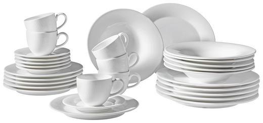 Porzellan  KAFFEESERVICE 18-teilig - Weiß, Basics - Ritzenhoff Breker