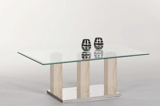 COUCHTISCH rechteckig Eichefarben - Eichefarben, Design, Glas (110/48/60cm) - Carryhome