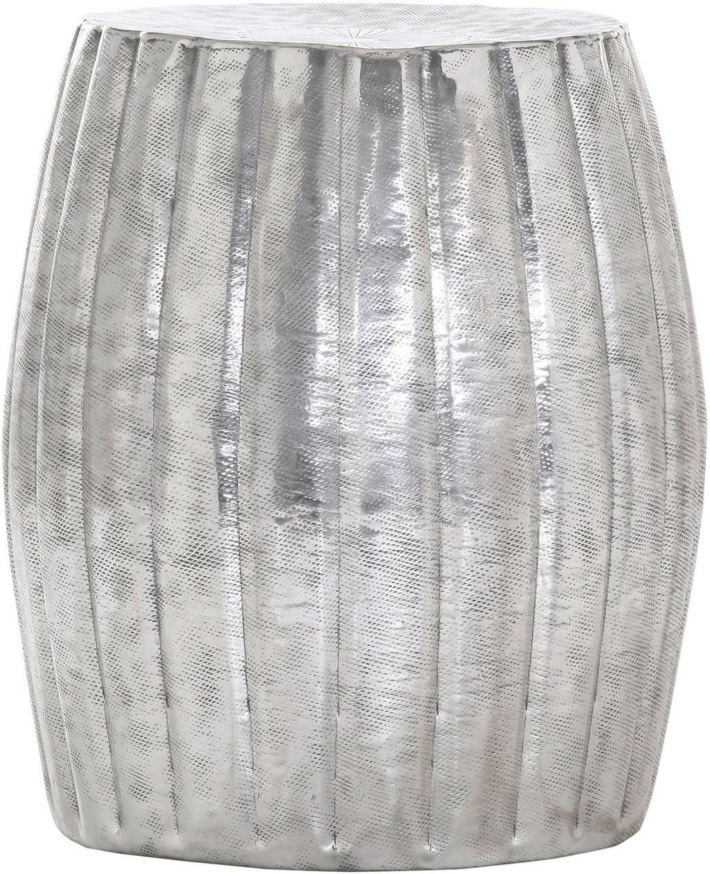 CARRYHOME HOCKER Silber