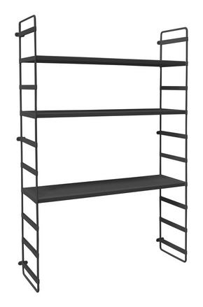 VÄGGHYLLA - svart, Design, metall (60/95/18cm)