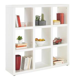 RUMSAVDELARE - vit/alufärgad, Design, träbaserade material/plast (123/124/35cm) - Carryhome