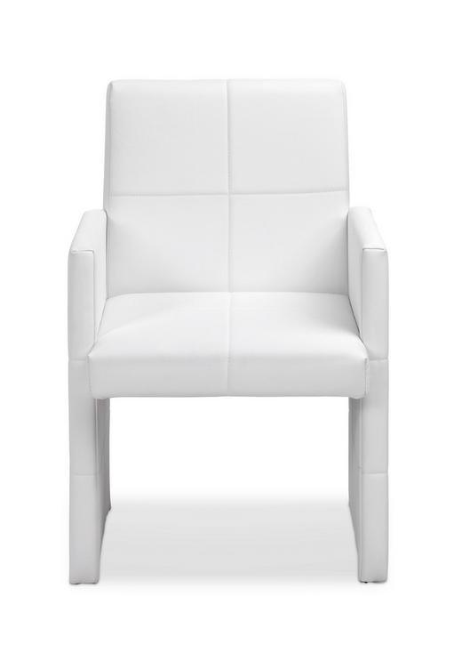SESSEL Lederlook Weiß - Weiß, Design, Textil (59/90/58cm) - Xora