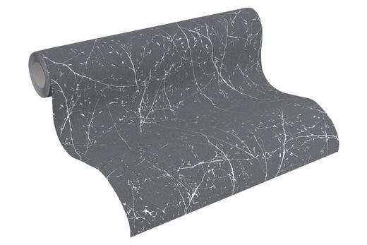 VLIESTAPETE 10,05 m - Dunkelgrau/Weiß, Design, Textil (53/1005cm)