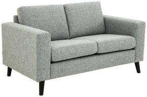 SOFFA - svart/grå, Design, trä/textil (152/86/84cm) - Welnova