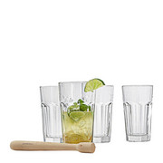 Cocktailglas-Set 5-teilig - Klar, Basics, Glas - Leonardo