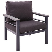 LOUNGE FOTELJA - siva/tamno siva, Moderno, metal/tekstil (67/74/73cm) - Amatio