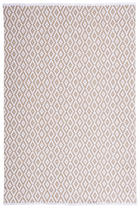HANDWEBTEPPICH  Taupe  70/130 cm - Taupe, Textil (70/130cm) - LINEA NATURA
