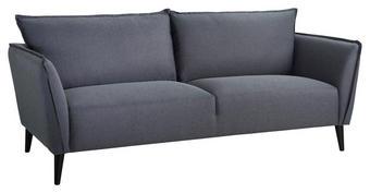 SOFFA - mörkgrå/svart, Basics, metall/trä (206/85/90cm)