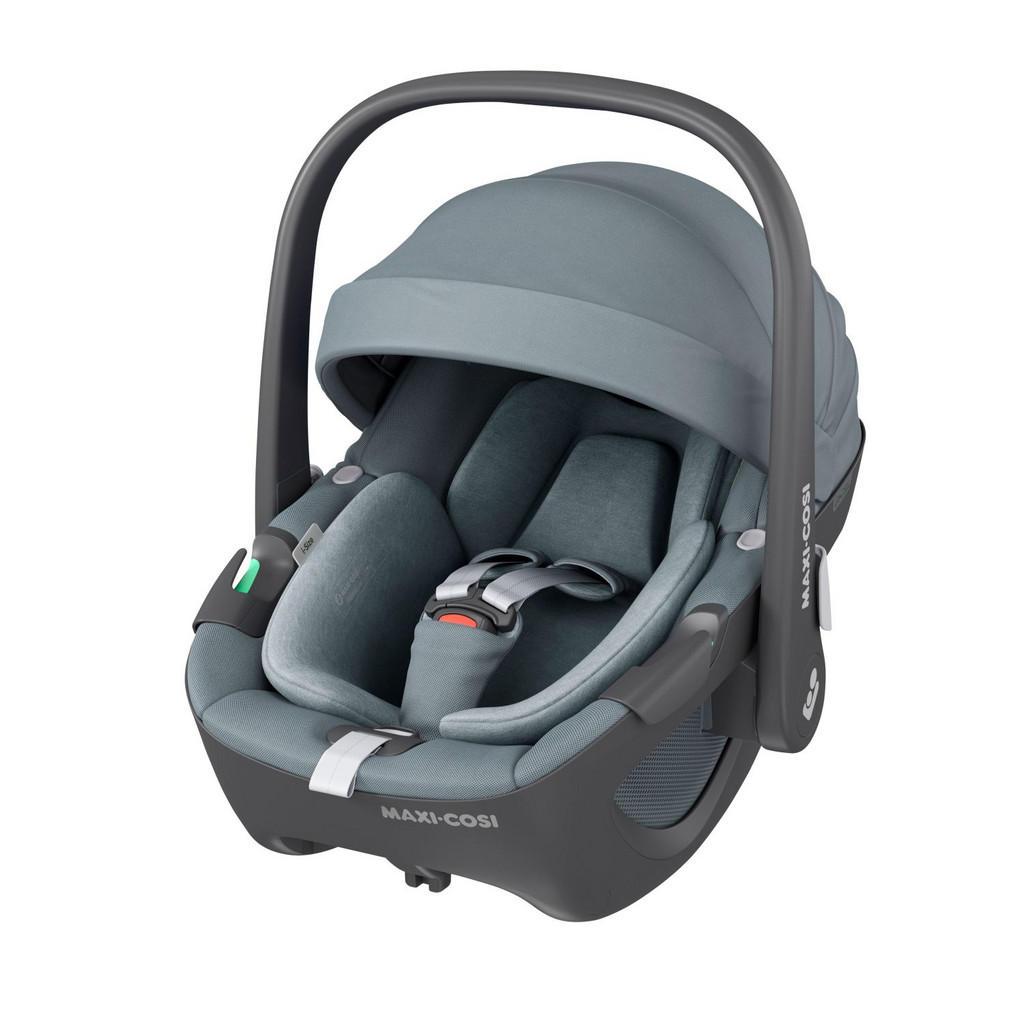 Image of Maxi-Cosi Babyschale pebble 360 , 8044050110 , Schwarz , Textil , 36x47x73 cm , glänzend,softmatt,Flachgewebe , abnehmbarer und waschbarer Bezug, ergonomischer Tragebügel, Gurtlängenverstellung, Reboardsystem, 3-Punkt-Gurt,abnehmbarer und waschbarer Bezug