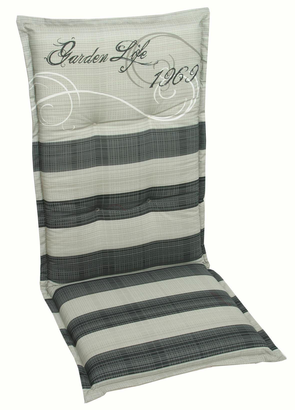 JASTUK ZA STOLICU - siva/antracit, Design, tekstil (50/120/8cm) - AMBIA GARDEN