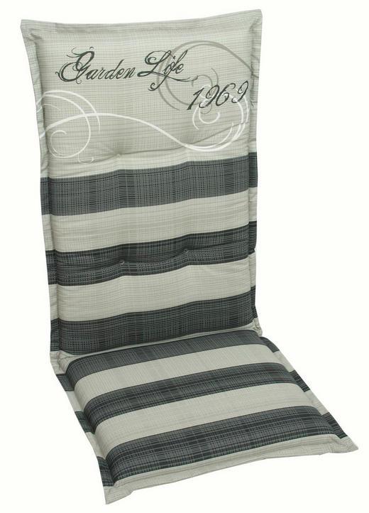 SESSELAUFLAGE Streifen - Anthrazit/Grau, Design, Textil (50/120/8cm)