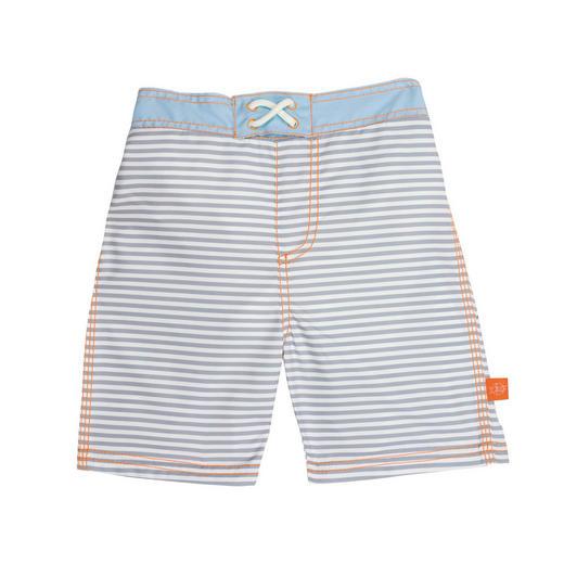 BADEHOSE - Hellgrau/Weiß, Basics, Textil (L) - Lässig