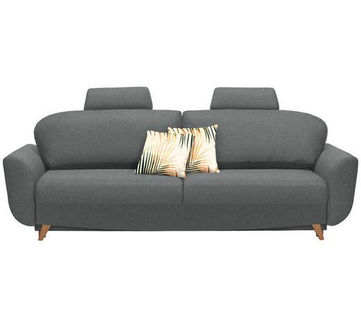 SCHLAFSOFA in Textil Dunkelgrau  - Dunkelgrau/Naturfarben, Design, Holz/Textil (240/102/90cm) - Novel