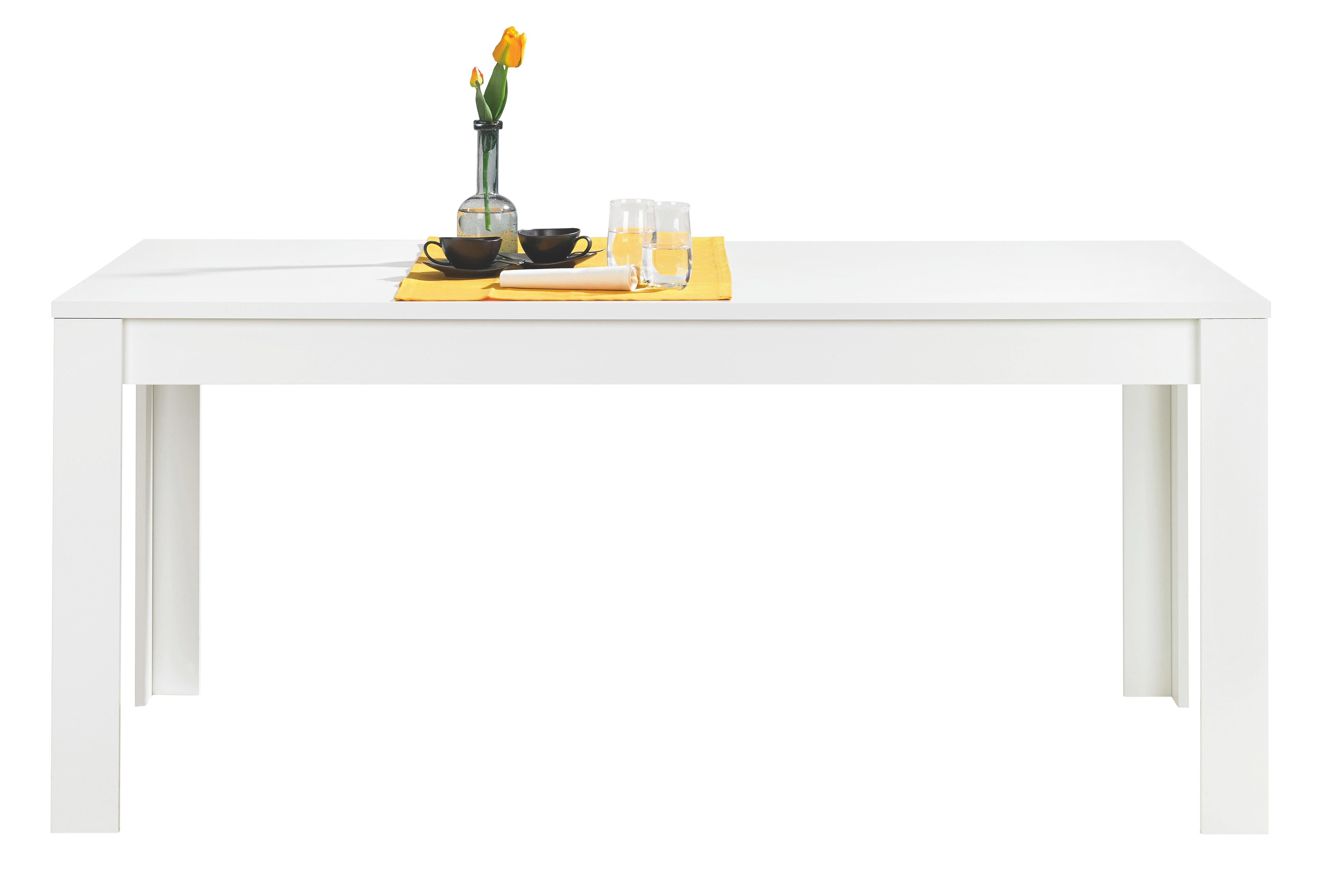 ESSTISCH rechteckig Weiß - Weiß, MODERN, Holzwerkstoff (180/79/90cm) - CARRYHOME