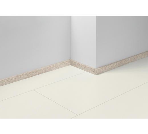 SOCKELLEISTE Weiß, Eichefarben, Hellgrau - Eichefarben/Hellgrau, Basics, Holzwerkstoff (257/4/1,6cm) - Parador