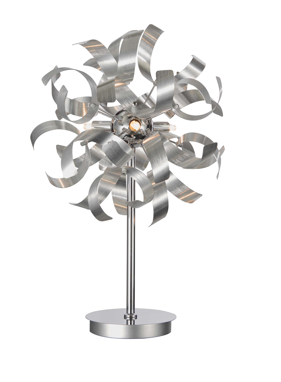 LED STOLNÍ LAMPA - barvy hliníku, Lifestyle, kov (30/52cm) - AMBIENTE