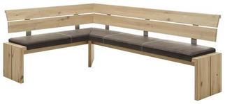 ECKBANK 160/250 cm  in Braun, Eichefarben  - Eichefarben/Braun, KONVENTIONELL, Holz/Textil (160/250cm) - Linea Natura