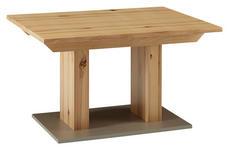 ESSTISCH in Holzwerkstoff 130/90/76 cm - Edelstahlfarben/Buchefarben, KONVENTIONELL, Holzwerkstoff (130/90/76cm) - Venda