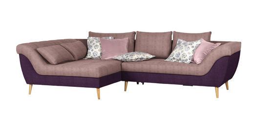 WOHNLANDSCHAFT Flachgewebe Rücken echt, Rückenkissen, Zierkissen - Violett/Rosa, Design, Holz/Textil (175/313cm) - Carryhome