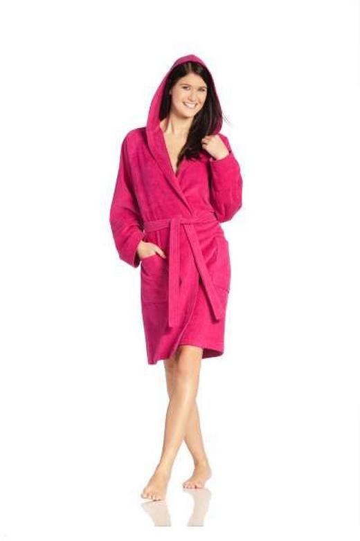 BADEMANTEL  Pink - Pink, Basics, Textil (XL) - Vossen