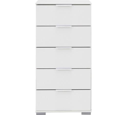 KOMMODE 49/102/41 cm - Alufarben/Weiß, Design, Holzwerkstoff/Kunststoff (49/102/41cm) - Carryhome
