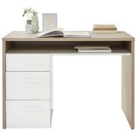 PISALNA MIZA leseni material bela, hrast  - bela/hrast, Konvencionalno, leseni material (110/76,7/60,2cm) - Xora