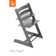 Tripp Trapp Hochstuhl Buche Hartholz, massiv Storm Grey - Grau, Basics, Holz (46/79/49cm) - Stokke