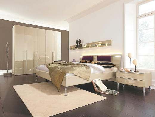SCHLAFZIMMER Sandfarben - Sandfarben, Design, Holz (180/200cm) - HÜLSTA