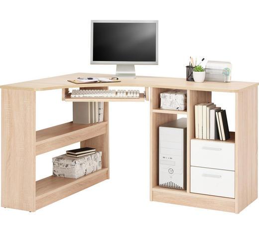 ECKSCHREIBTISCH - Eichefarben/Alufarben, KONVENTIONELL, Holzwerkstoff/Kunststoff (95/78/138cm) - Cantus