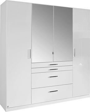GARDEROB - vit/kromfärg, Design, glas/träbaserade material (181/197/54cm) - Carryhome