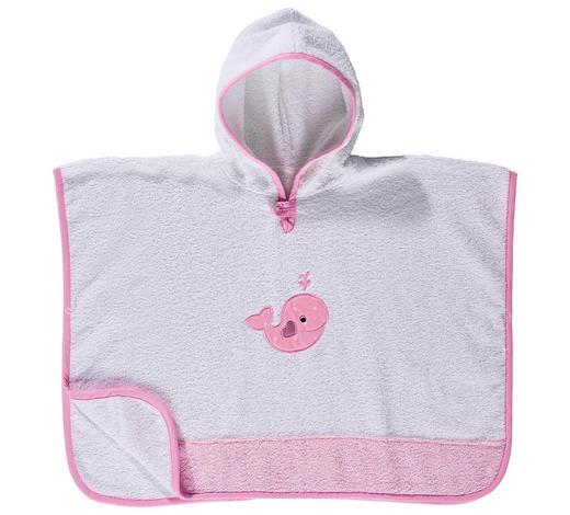 PONCHO - Rosa/Weiß, Basics, Textil (65/50cm) - My Baby Lou